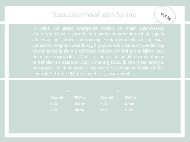 Succesverhaal Sanne the body practice