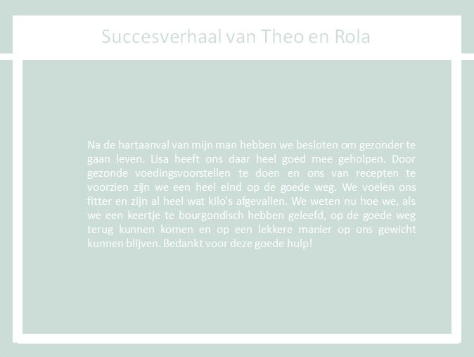 Succesverhaal van Theo en Rola the body practice