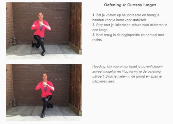 Curtesy lunge the body practice